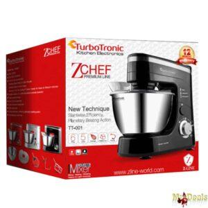 TurboTronic Κουζινομηχανή - Μίξερ 1200 Watt με Κάδο 3lt και επιπλέον 3 αξεσουάρ
