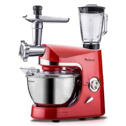 Κουζινομηχανή - Μίξερ - Μπλέντερ - Κρεατομηχανή 2000 Watt με Ανοξείδωτο Κάδο 4,5L και Δώδεκα εξαρτήματα TurboTronic TT-007
