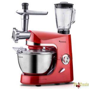 TurboTronic Κουζινομηχανή, Μίξερ, μπλέντερ (mixer-blender) Κρεατομηχανή 1500 Watt με Ανοξείδωτο Κάδο 3lt και Δώδεκα εξαρτήματα Υψηλής Ποιότητας!