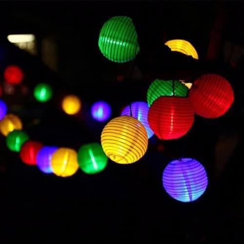 Διακοσμητικός Φωτισμός Εσωτερικού/Εξωτερικού χώρου με 15 φαναράκια με LED