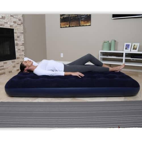 Φουσκωτό Διπλό Στρώμα ύπνου 191x137x22cm με βελούδινη επένδυση Bestway