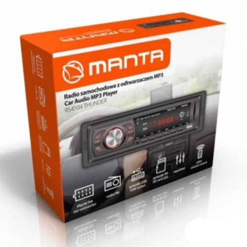 Ηχοσύστημα Αυτοκινήτου MP3 4x10W με υποδοχή USB/SD/AUX και Τηλεχειριστήριο Manta Thunder