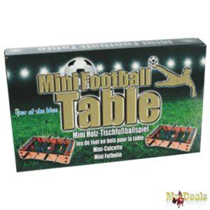 Επιτραπέζιο και φορητό Ξύλινο Ποδοσφαιράκι διάστασης 33x21cm με 12 παίκτες