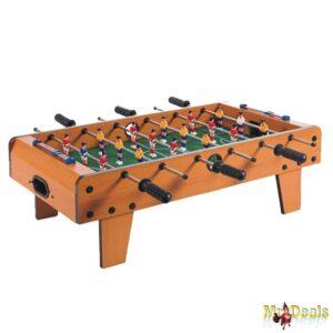 Επιτραπέζιο Ξύλινο Παιδικό Ποδοσφαιράκι με πόδια διάστασης 69x23x37cm με 18 παίκτες