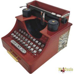 Μουσικό Κουτί Vintage Γραφομηχανή διάστασης 16x16x12cm Typewriter