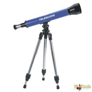 Παιδικό Τηλεσκόπιο 40mm Μεγέθυνσης 30x με Τρίποδο σε Μπλε χρώμα