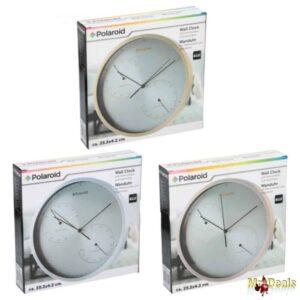 Επιτοίχιος Μετεωρολογικός Σταθμός Ρολόι Υγρόμετρο και Θερμόμετρο σε τρία χρώματα