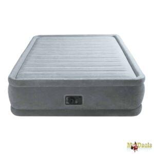 Φουσκωτό Στρώμα Ύπνου Διπλό 203x152x46cm με βελούδινη επένδυση και ηλεκτρική τρόμπα