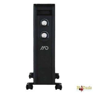 Ηλεκτρική Σόμπα Θερμαντικό Σώμα 2200W σε Μαύρο χρώμα με υπέρυθρη θέρμανση MD