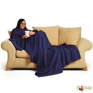 Μαλακή Κουβέρτα με Μανίκια και Τσέπη Πυτζάμα Kangoo σε Μπλε και κόκκινο χρώμα