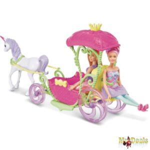 Παραμυθένια Άμαξα με Μονόκερο και κούκλα Barbie Dreamtopia
