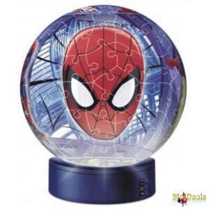Παζλ Μπάλα λάμπα 3D χτυπώντας παλαμάκια ανάβει και σβήνει Ravensburger Spiderman