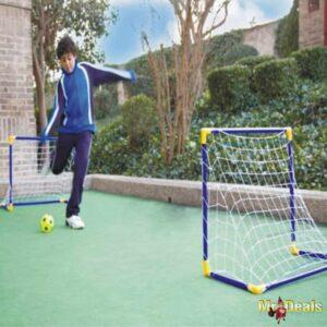 Σετ ποδοσφαίρου με τέρμα μπάλα και τρόμπα για ατέλειωτο παιχνίδι στην αυλή