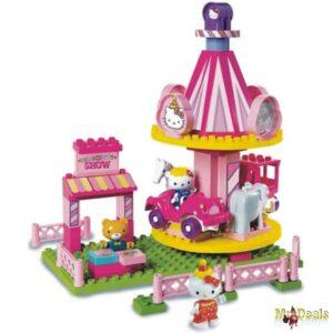 Tουβλάκια Carousel Hello Kitty Fun Park με φιγούρες και αξεσουάρ