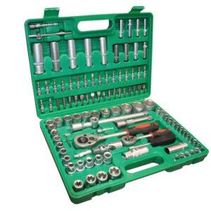 Επαγγελματικό Σετ Βαλιτσάκι με Κλειδιά Καστάνια και Επεκτάσιμες Μπάρες 108τμχ