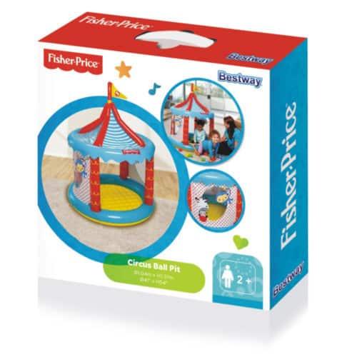 Φουσκωτός Παιδότοπος για Εσωτερικό και Εξωτερικό χώρο με 25 μπάλες Bestway Fisher Price