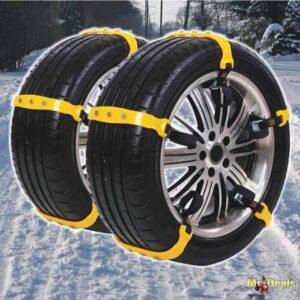 Σετ Αλυσίδες Χιονιού Χιονοδέστρες UPGRADE 10 τεμάχια για 2 Τροχούς Large σε Κίτρινο χρώμα