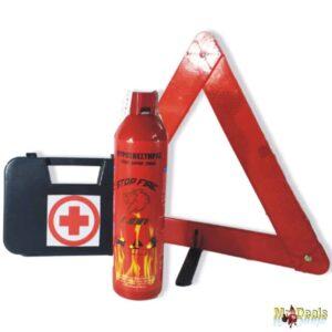 Σετ τρίγωνο πυροσβεστήρας θήκη φαρμακείο σετ πυρασφάλειας αυτοκινήτου σε διάφανη τσάντα