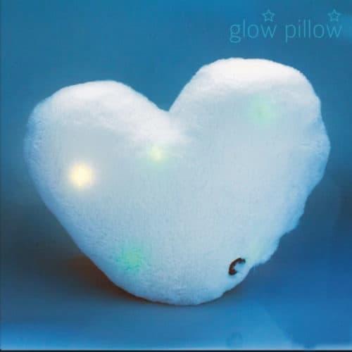 Χνουδωτό Φωτεινό Μαξιλάρι LED σε σχήμα Καρδιά σούπερ απαλό και άνετο Glow Pillow