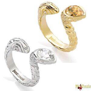 Γυναικείο Κόσμημα Δαχτυλίδι από ανοξείδωτο ατσάλι σε Χρυσό ή Ασημί Χρώμα με Κρύσταλλο και Χρυσή ή Ασημί λεπτομέρεια