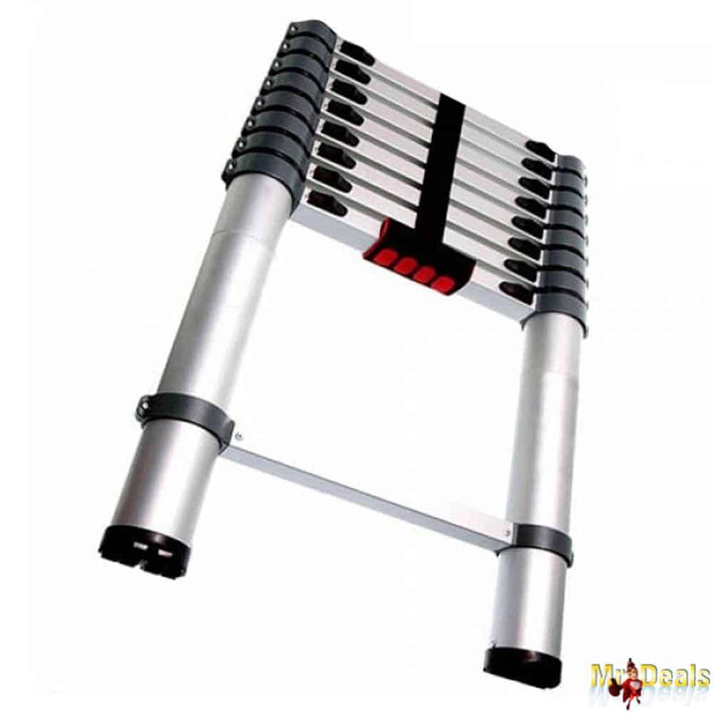 Επεκτεινόμενη Τηλεσκοπική Σκάλα 70cm έως 260cm μέγιστου βάρους 150kg με 8 σκαλιά