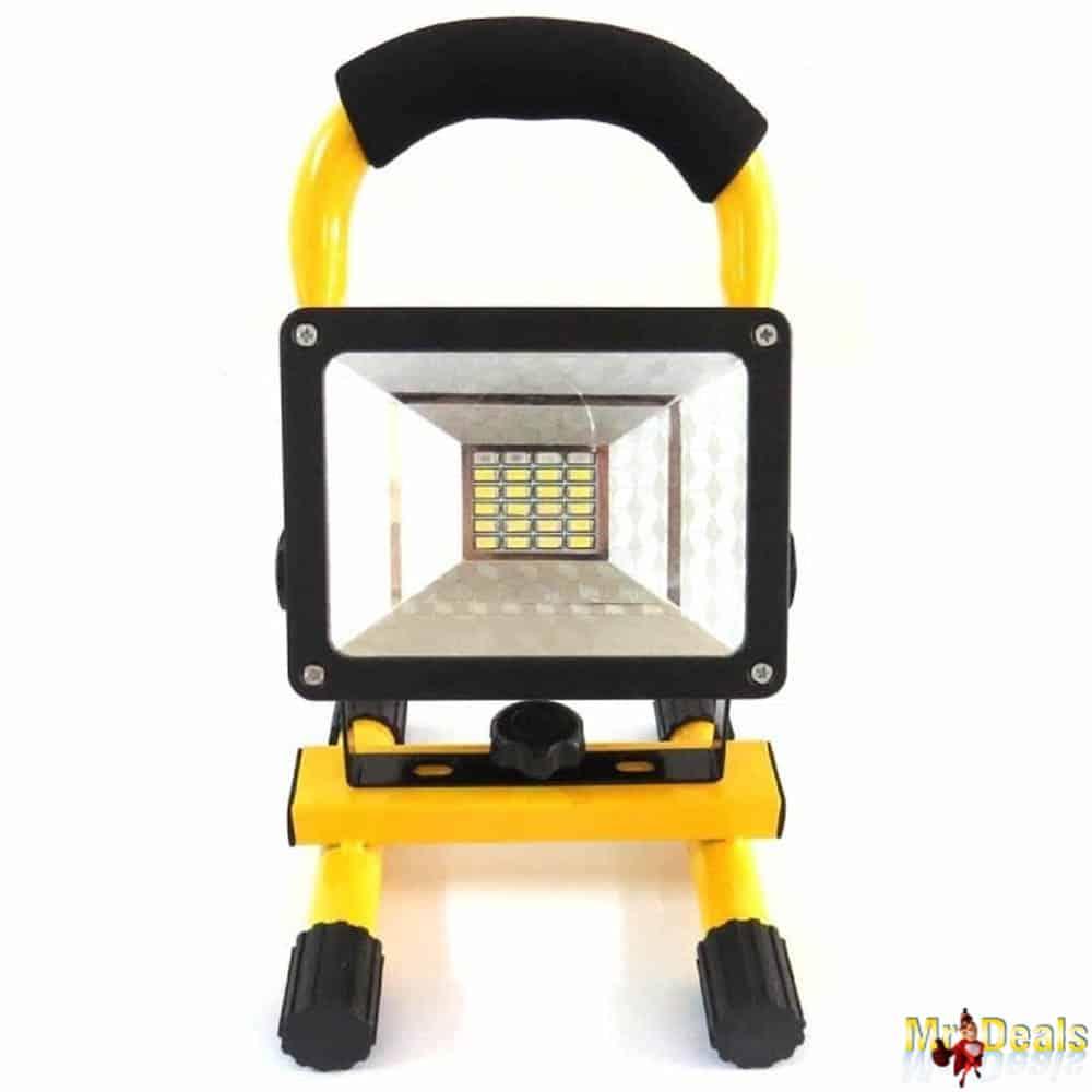 Φορητός Προβολέας LED 30W Υψηλής Φωτεινότητας 2400LM σε Κίτρινο χρώμα με λαβή