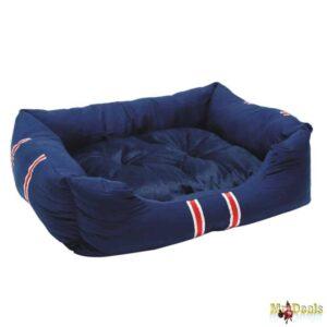 Μαλακό κρεβάτι σκύλου και άλλων κατοικιδίων LUX με αφαιρούμενο Μαξιλαράκι σε Μπλε χρώμα μεγάλο μέγεθος