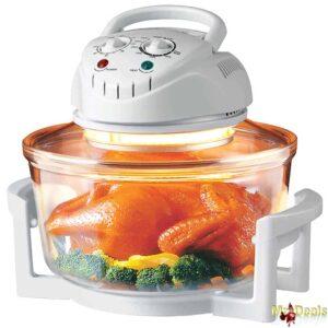 Πολυμάγειρας Φουρνάκι Ρομπότ Αλογόνου 12Lt 1300W Θερμού Αέρα για Υγιεινή διατροφή