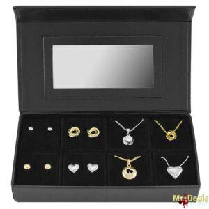 Σετ συλλογή Κοσμημάτων από κράμα χρυσού με 4 Κολιέ και 4 Ζευγάρια Σκουλαρίκια σε Πολυτελή συσκευασία Pierre Cardin Gift Set