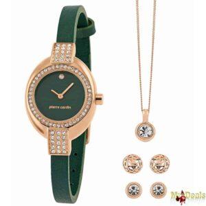 Σετ συλλογή Κοσμημάτων με κολιέ 2 σετ σκουλαρίκια και ρολόι σε Πολυτελή συσκευασία δώρου