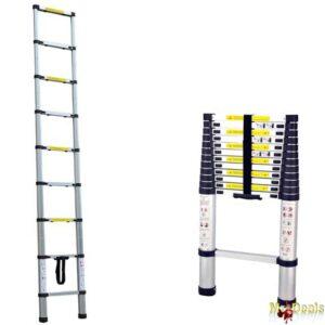 Τηλεσκοπική Σκάλα 3,8 μέτρα από Αλουμίνιο με 9 σκαλιά και αντιολισθητικά πόδια
