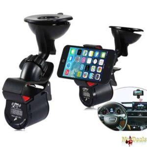 Βάση Αυτοκινήτου με Ασύρματο Πομπό FM Stereo Bluetooth HandsFree και Ηχείο