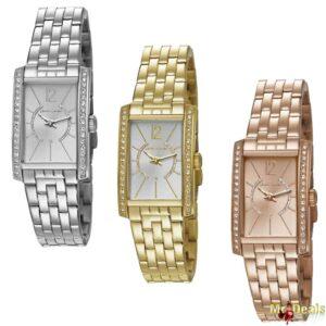 Αναλογικό Γυναικείο Ρολόι χειρός σε τρία χρώματα Ασημί Χρυσό και Χρυσό Ρόζ με Διαμαντάκια