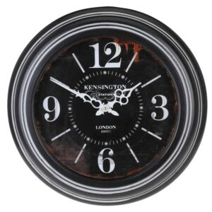Αναλογικό Μεταλλικό Vintage Ρολόι Τοίχου 45cm παλαιού τύπου και γοτθική εμφάνιση
