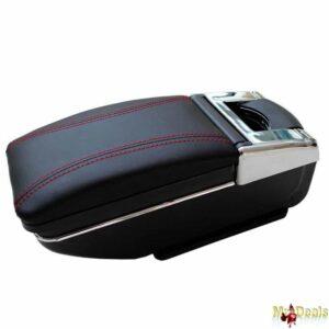 Κονσόλα χειρόφρενου universal τεμπέλης αυτοκινήτου με ποτηροθήκη και σταχτοδοχείο σε μαύρο χρώμα για όλα τα αυτοκίνητα