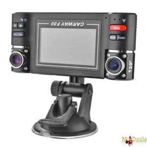 Διπλή κάμερα αυτοκινήτου περιστρεφόμενων φακών 180° LCD 2,7' 5MP για να έχετε μάτια μπρος πίσω!