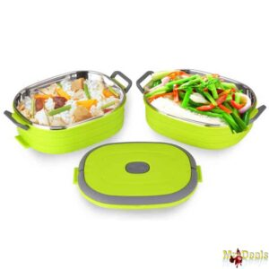 Φαγητοδοχείο Lunchbox 2 επιπέδων 1.8Lt ελαφρύ και εύκολο στον καθαρισμό με λαβή μεταφορας Peterhof