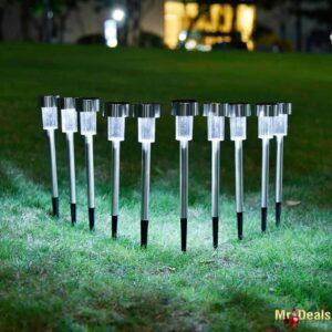 Ηλιακό φωτιστικό LED εξωτερικού χώρου ύψους 31cm σετ 10 τεμαχίων για τον κήπο και το μπαλκόνι σας