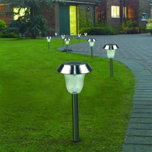 Ηλιακό φωτιστικό LED εξωτερικού χώρου ύψους 42cm σετ 5 τεμάχια για τον κήπο και το μπαλκόνι σας