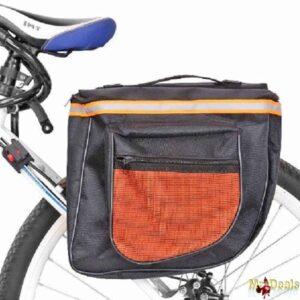 Διπλή αδιάβροχη τσάντα ποδηλάτου με ανακλαστικές λωρίδες και 4 θήκες