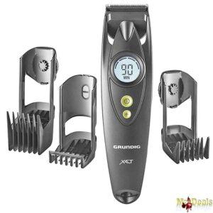 Επαναφορτιζόμενη Ξυριστική Κουρευτική Μηχανή Προσώπου και Μαλλιών με Οθόνη LCD σε Μαύρο χρώμα