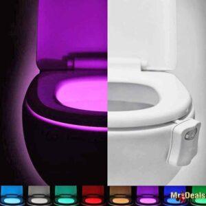 LED φωτιστικό με 8 χρώματα και αισθητήρα κίνησης για λεκάνη τουαλέτας για επαγγελματικούς χώρους ή το σπίτι