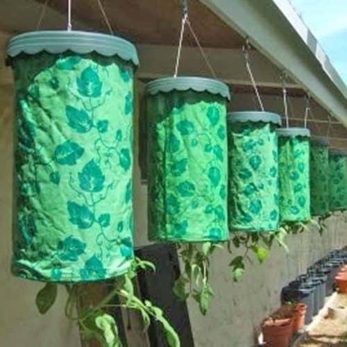 Πλαστική Κρεμαστή Ανάποδη Γλάστρα για φύτεμα Ντομάτας και άλλων αναρριχητικών φυτών σετ 3τμχ Topsy Turvy