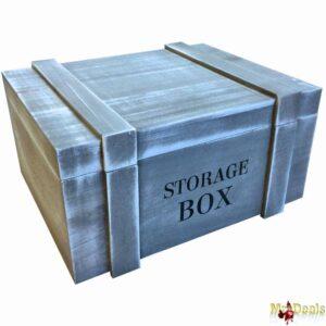 Σετ 3 τεμ. Ξύλινο Διακοσμητικό Vintage Κουτί Αποθήκευσης σε Σχήμα Μπαούλο για Μικροαντικείμενα