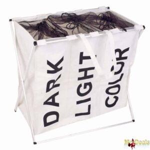 Τσάντα Οργάνωσης Άπλυτων ρούχων από Πολυεστέρα διάστασης 62x59x40cm σε Λευκό ή Κόκκινο χρώμα