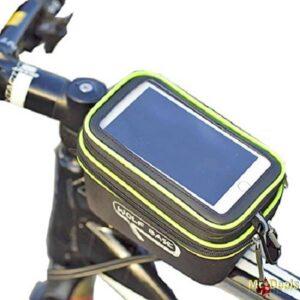 Τσαντάκι ποδηλάτου αδιάβροχο με αποσπώμενη θήκη διάφανης μεμβράνης touch screen sensitive