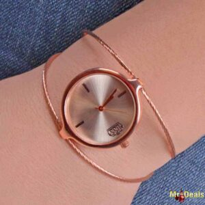 Κομψό γυναικείο ρολόι σε μπρούτζινη απόχρωση με μοντέρνο σχεδιασμό και κομψότητα by Amaryllida's Art collection