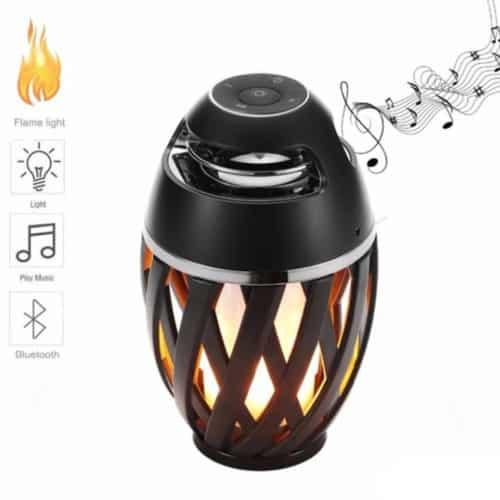 Επαναφορτιζόμενο Ηχείο Bluetooth με LED φλόγα που δημιουργεί μια ρομαντική ατμόσφαιρα