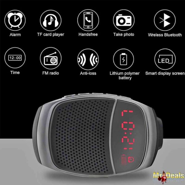 Έξυπνο Ρολόι Ηχείο μέσω bluetooth για μετάδοση μουσικής και κλήσεων, Sports Music Watch