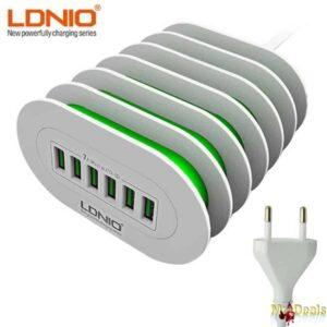 Φορτιστής συσκευών με 6 θύρες USB για να φορτίζετε γρήγορα τις συσκευές σας ταυτόχρονα 7A